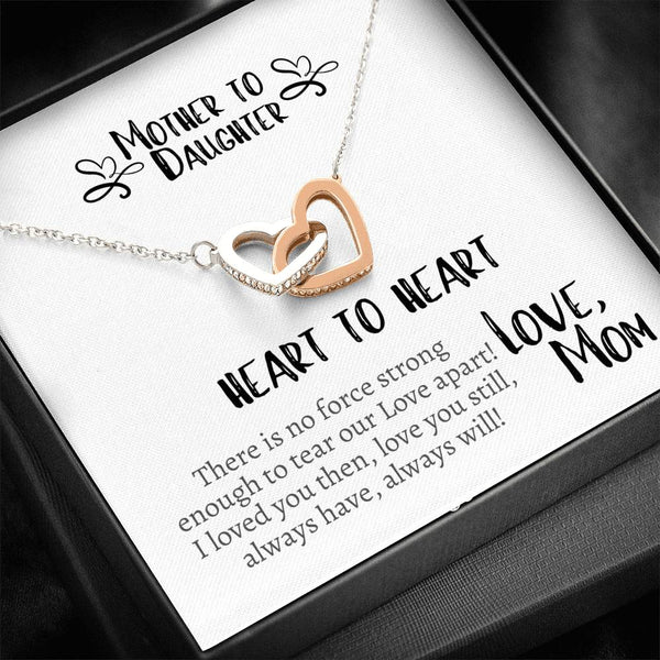 Mother to Daughter ... Heart to Heart! Interlocking Hearts Necklace
