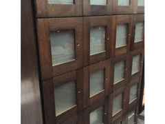 Frosted Glass Door Panel Cigar Lockers spanish cedar