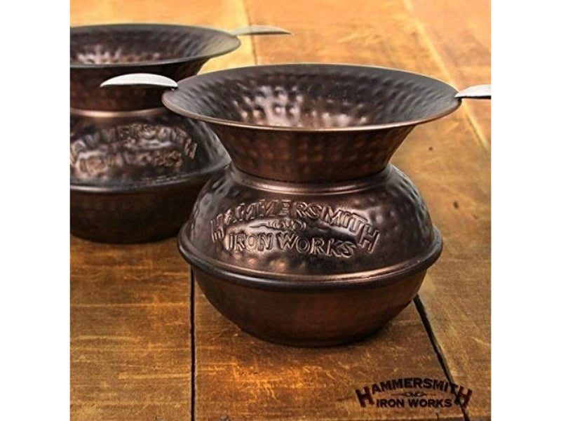 "5"" Iron Spittoon Copper Ashtray"