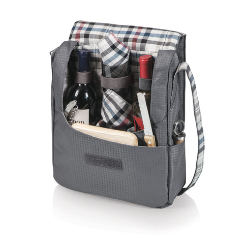 Britannia Stylish 2 Wine Bottle and Cheese Tote