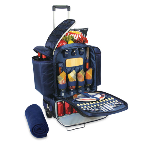 Excursion Picnic Wine Tote w/ 2 Detachable Coolers & Trolley