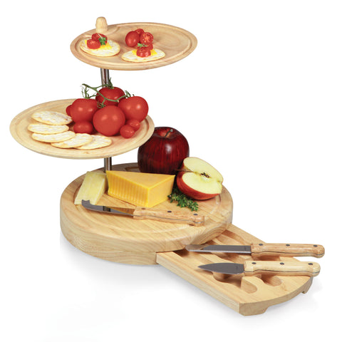 Picnic Time Regalio Serving Tray and Cheese Board