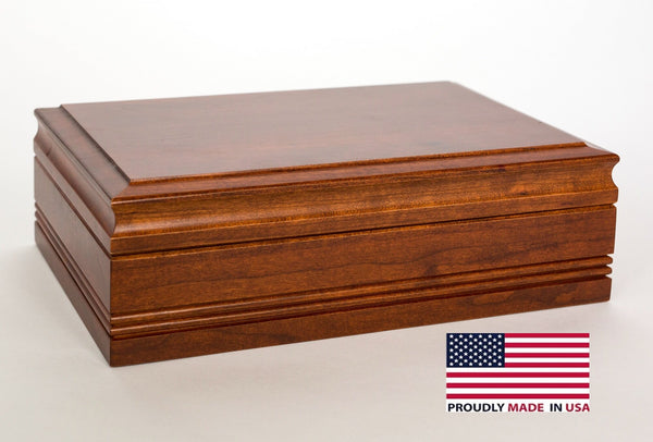 H50C Amish Crafted Cigar Humidor with Heritage Cherry Finish