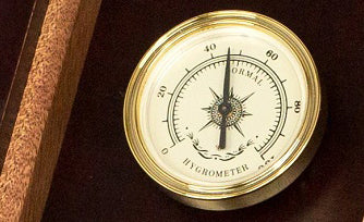 H75M/W Amish Crafted Wooden Humidor Box Analog Hygrometer