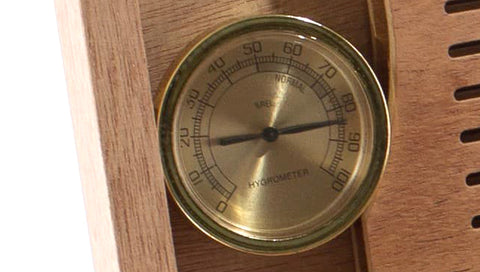 HNE1 Medium Humidor Cigar Storage Analog Hygrometer