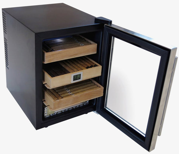 The Clevelander Cigar Humidor Cabinet with Digital Hygrometer