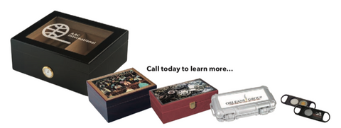 Personalized Humidors, cutters, ashtrays and more.