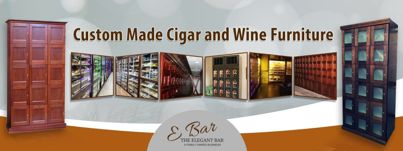 Multiple cigar cabinets from a cigar humidors online site