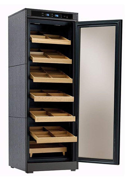 The Remington Lite Electric Cabinet Humidor Open
