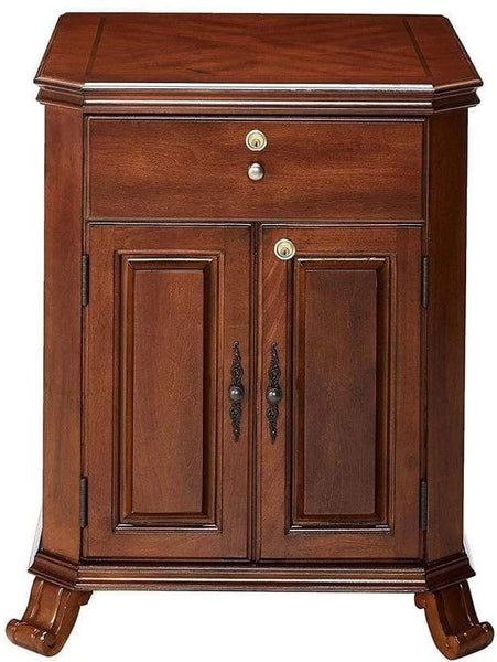 The Montegue End Table Cigar Humidor Cabinet Your Elegant Bar