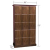 Elegant Bar Cigar Lockers 3 Column - 15 Cigar Lockers w/ Slab Doors