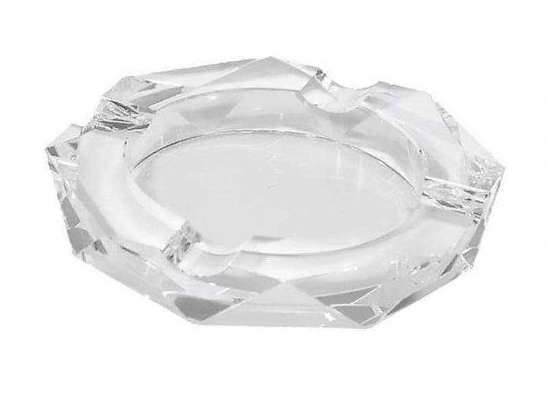Quality Importers Ashtray 4 Cigar Round Crystal Ashtray