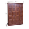 Elegant Bar Cigar Lockers 4 Column - 20 Cigar Lockers w/ Framed & Panel Doors