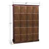 Elegant Bar Cigar Lockers 4 Column - 20 Cigar Lockers w/ Slab Doors