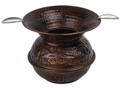 "Quality Importers Ashtray 5"" Iron Spittoon Copper Ashtray"
