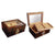Ambassador Beveled Glass Top Cigar desktop humidor Gift Set 100 cigar