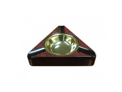 Quality Importers Ashtray Ashtray 3 Cigars - Dark Burl
