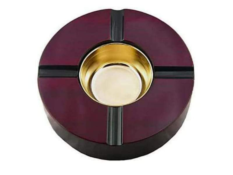 Quality Importers Ashtray Ashtray 4 Cigars - Cherry with Detachable Bowl for Easy Cleaning