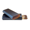 Quality Importers Cigar Case BLACK TELESCOPING 3-FINGER CIGAR