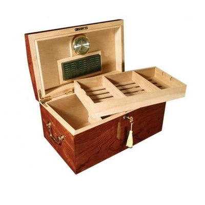 Broadway High Gloss Lacquer Cigar Humidor Gift Set | 150 Cigars open