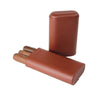 Quality Importers Cigar Case BROWN TELESCOPING 3-FINGER CIGAR