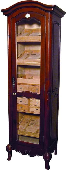 Quality Importers HUMIDOR Chancellor Antique Tower Humidor Cabinet | 3,000 Cigars