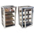 Prestige Desktop Humidor Diamond Plate 250 Ct. Industrial Metal Display Humidor w/ 4 Large Acrylic Trays