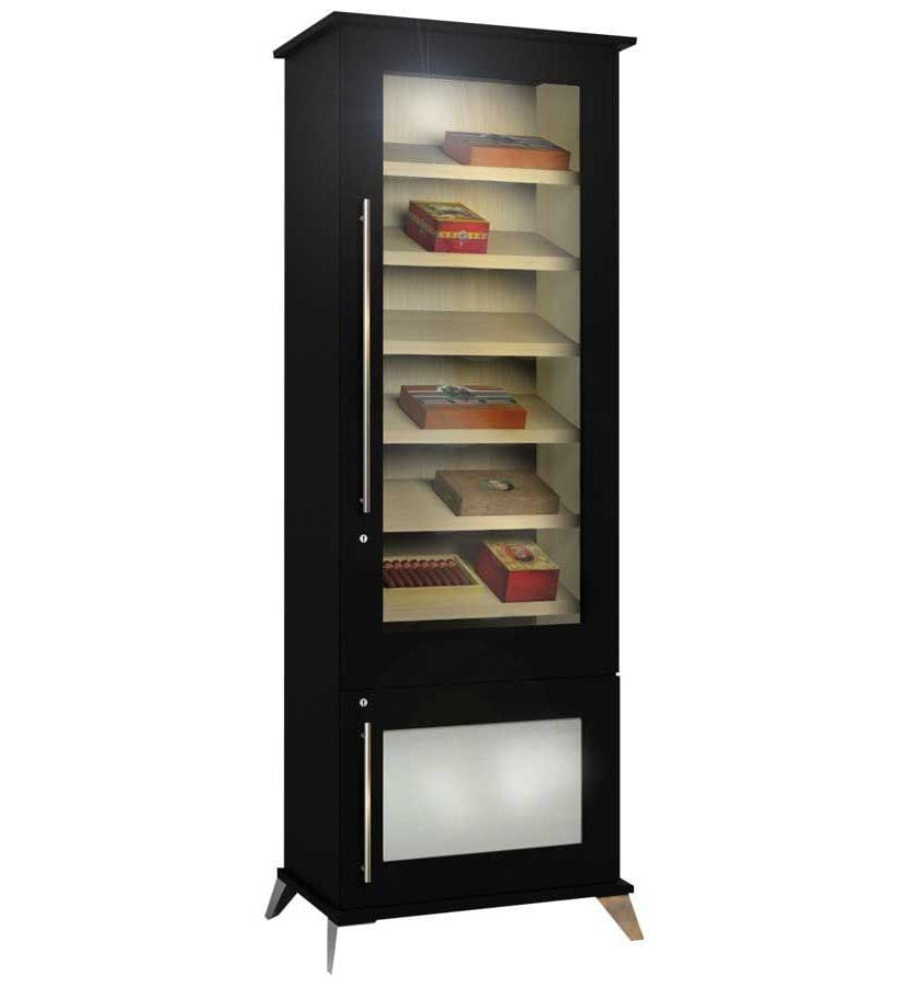 Elegant Bar Display Humidor Elegant 1000 Contemporary Display Case