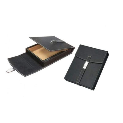 Prestige Travel Humidor Florence Black Leather Cigar Humidors | 10 Cigars