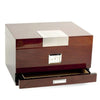 "Lacquered ""Walnut"" Wood 60 Cigar Humidor"