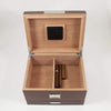 Lacquered Walnut Wood 60 Cigar Humidor