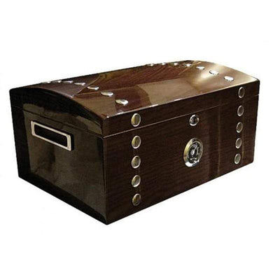 Montgomery Lacquer Studded Chest Cigar Humidor Gift Set | 150 Cigars