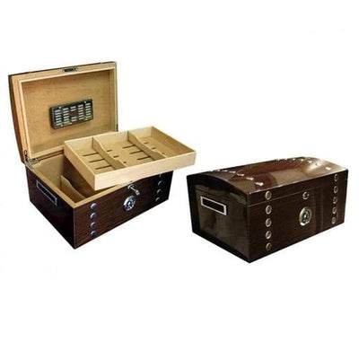 Montgomery Lacquer Studded Chest Cigar Humidor Gift Set | 150 Cigars review