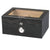 Quality Importers Milano Glasstop Black Oak Humidor