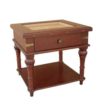 Quality Importers Scottsdale 300 Cigar Solid Wood End Table Humidor