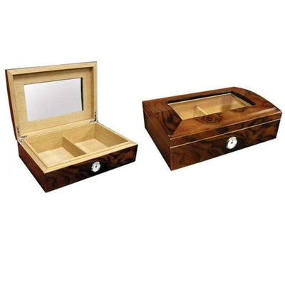 The Addison Beveled Glass Top Cigar Humidors l 40 Cigars