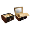 The Berkeley II Glass Top Cigar Humidor l 100 Cigars