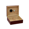 The Chalet Cherry Finish Cigar Humidor l 25-50 Cigars open