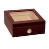 The Chalet Cherry Glasstop Finish Cigar Humidor l 25-50 Cigars box