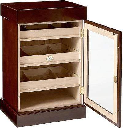 Quality Importers Desktop Humidor The Mini Tower Humidor Cabinet  with 1000 cigars capacity