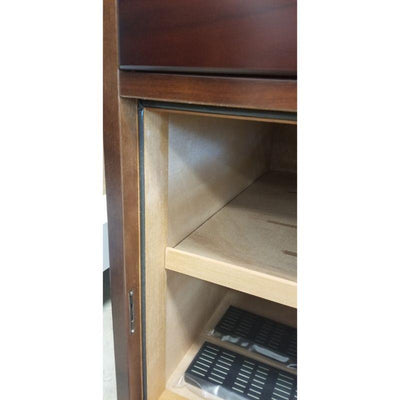 Prestige End Table Humidor The Santiago End Table Humidor | Glass Top | 700 Cigars