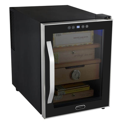 Whynter HUMIDOR Whynter Elite Touch Control Stainless Cigar Cooler Humidor 1.2 cu. ft. | 250 Cigars