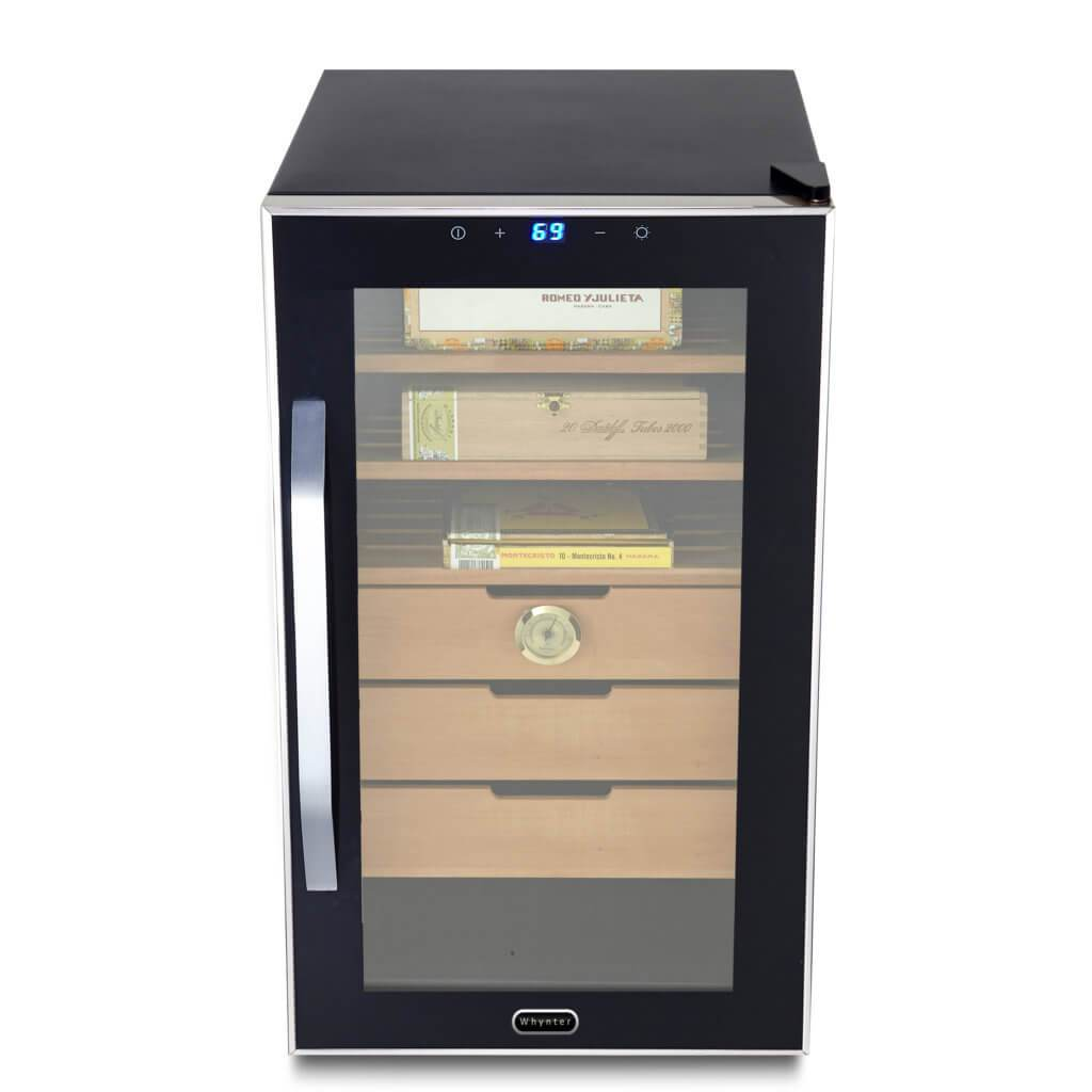Whynter HUMIDOR Whynter Elite Touch Control Stainless Cigar Cooler Humidor 1.8 cu. ft. | 350 Cigars