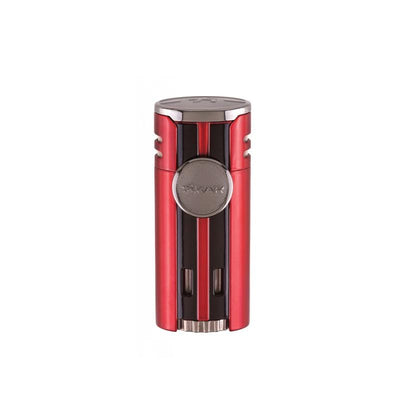 Quality Importers Lighter Daytona Red Xikar HP4 Quad Lighter