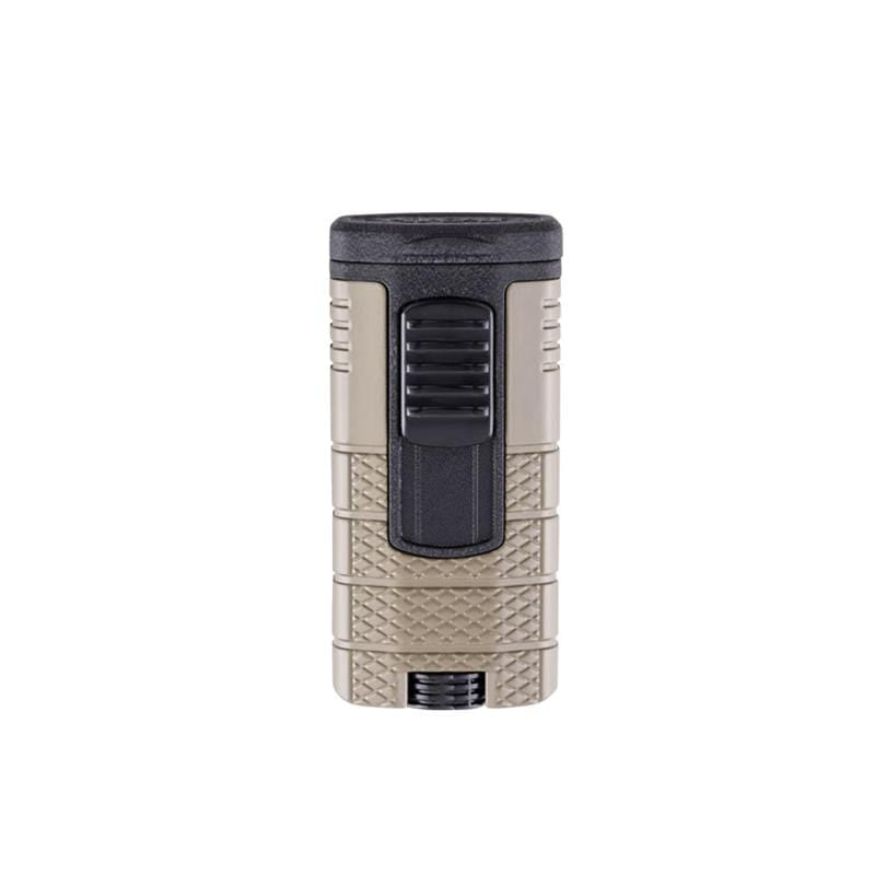 Quality Importers Lighter Tan and Black Xikar Tactical / Triple-jet Flame Lighter