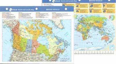 World and canada map notebook laminated maps more world and canada map notebook laminated gumiabroncs Choice Image