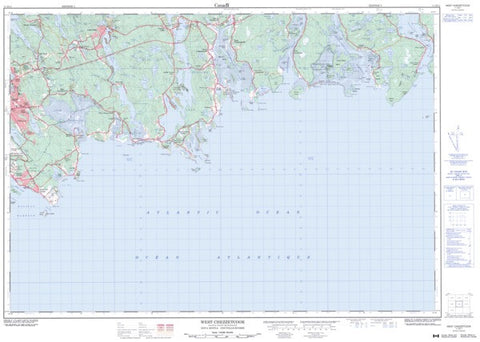 11D/11 West Chezzetcook Topographic Map Nova Scotia