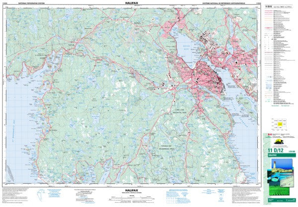 11D/12 Halifax Topographic Map Nova Scotia