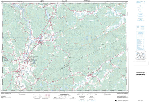 11E/03 Shubenacadie Topographic Map Nova Scotia