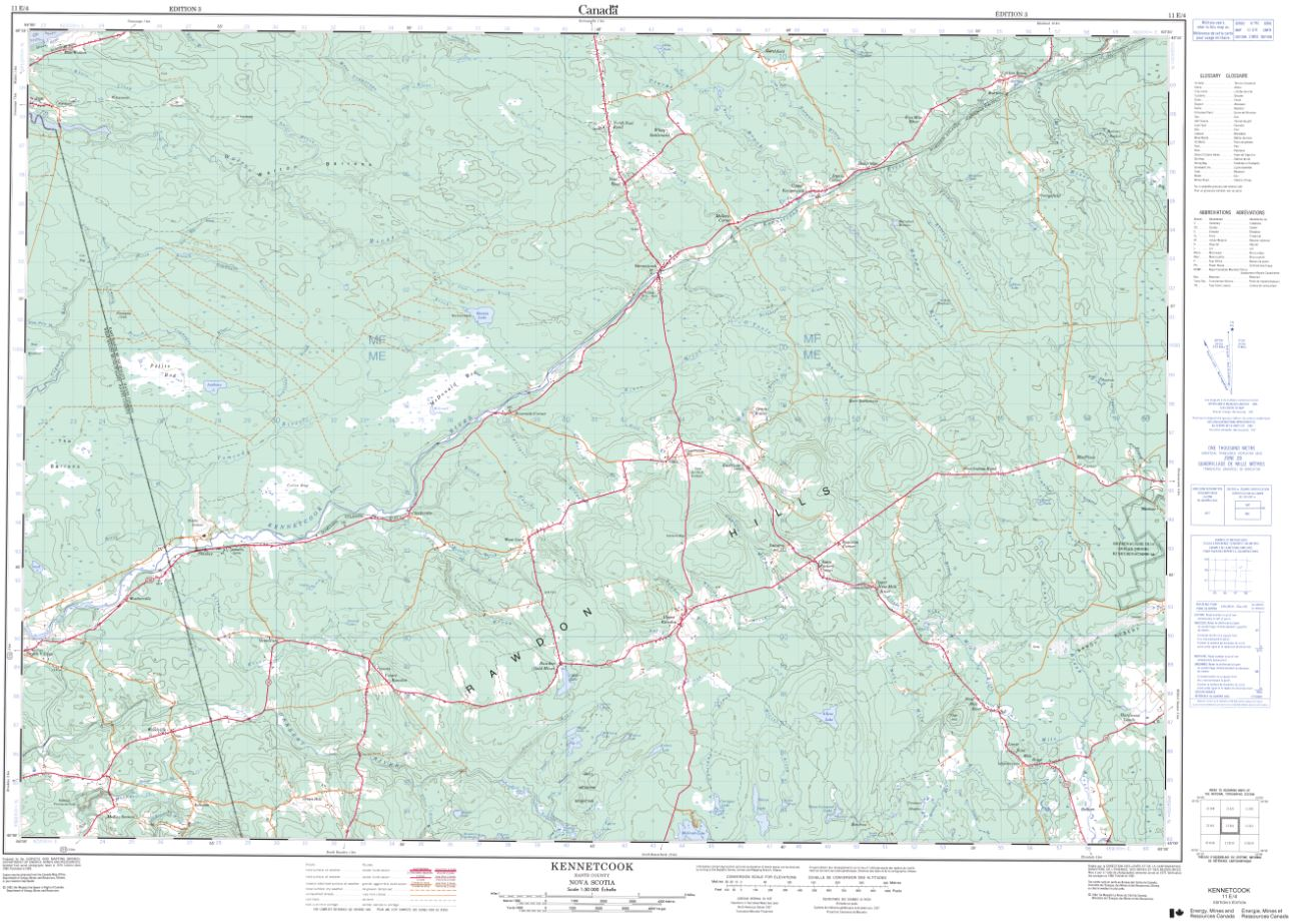 11E/04 Kennetcook Topographic Map Nova Scotia